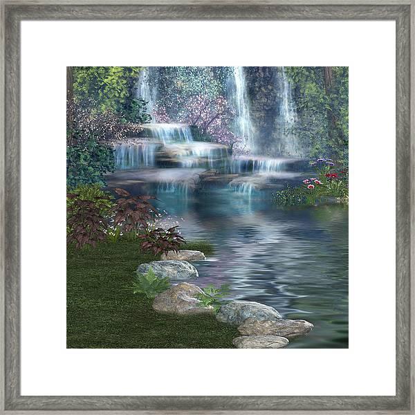Fairies Hidden Lake Framed Print