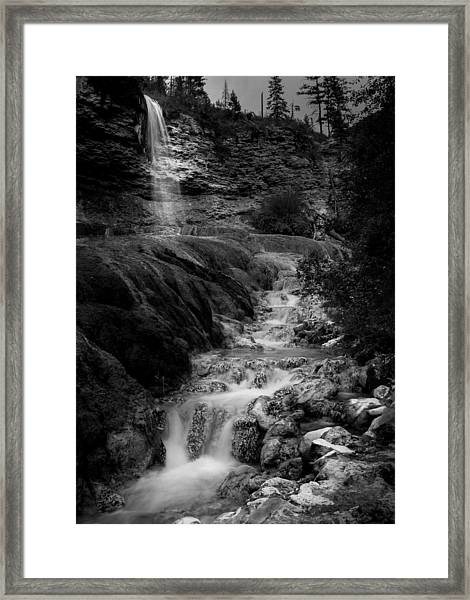 Fairmont Waterfall Framed Print