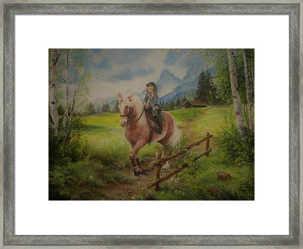 Fairy Tale In The Alps Framed Print
