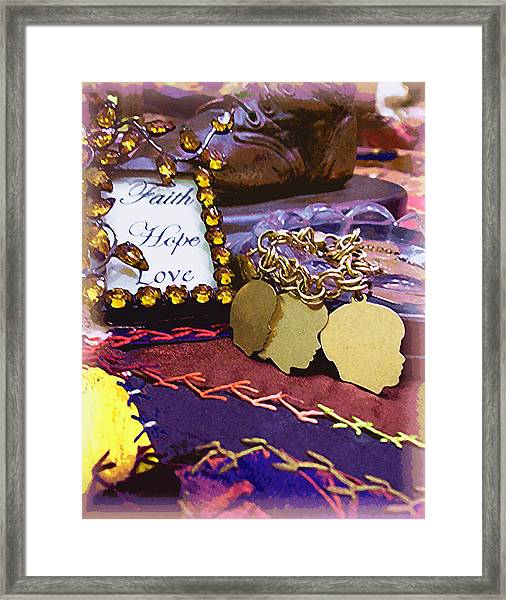 Faith Hope Love 4 Framed Print