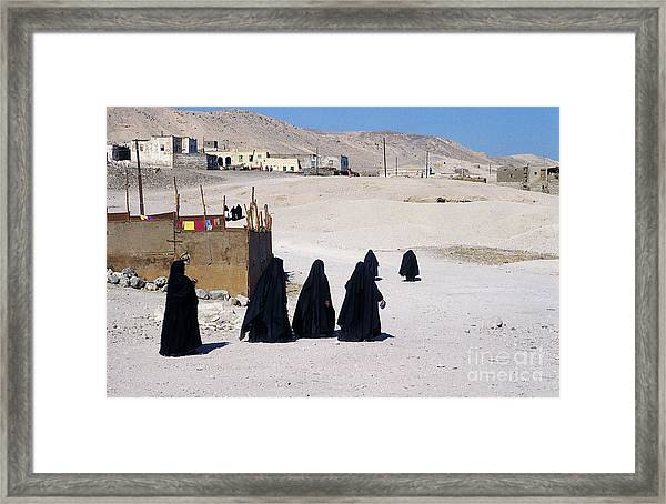 Faith Past And Present - Mourners Framed Print