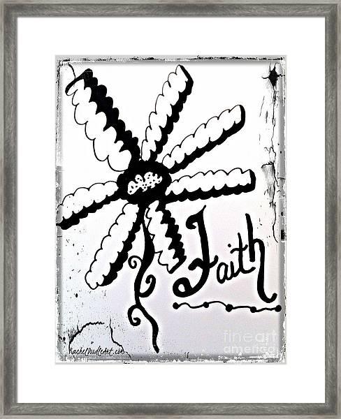 Framed Print featuring the drawing Faith by Rachel Maynard