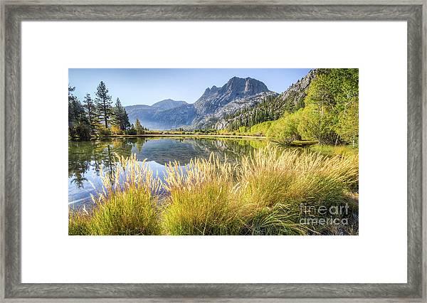 Fall Along The Creek Framed Print