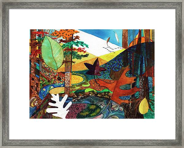 Fall Along The Patuxent Framed Print