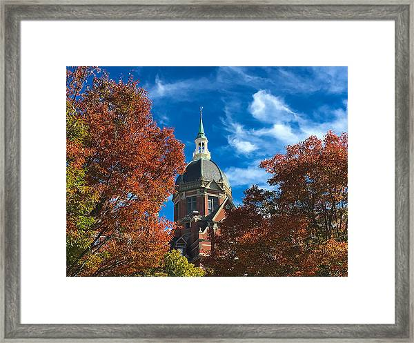 Fall And The Dome Framed Print
