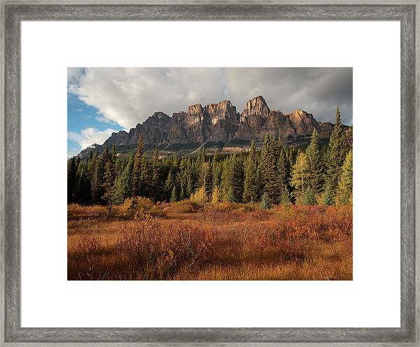 Fall At Castle Mountain Framed Print