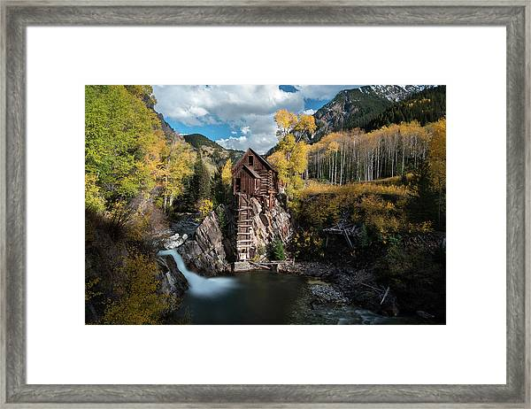 Fall At Crystal Mill Framed Print