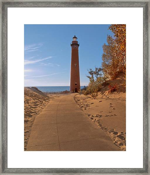 Fall At Little Point Sable Light Framed Print