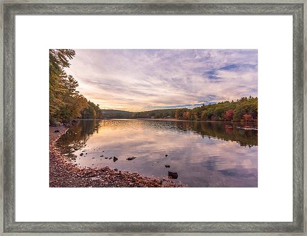 Fall At The Pond Framed Print
