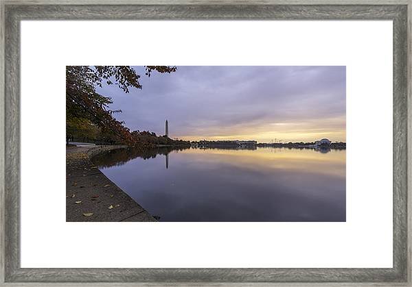 Fall At The Tidal Basin Framed Print by Michael Donahue