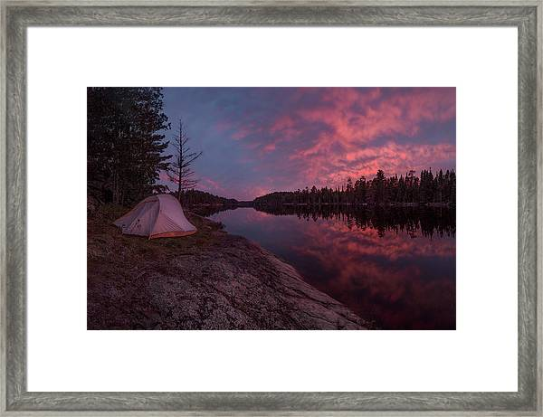 Fall Camping // Bwca, Minnesota  Framed Print