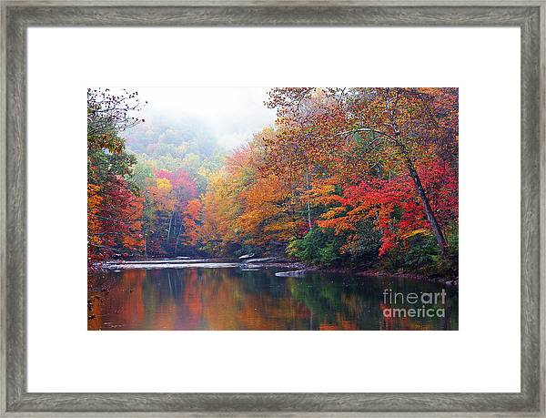 Fall Color Williams River Mirror Image Framed Print