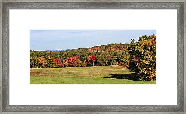 Fall Colors In Easthampton Framed Print