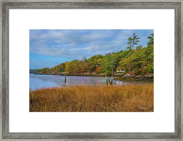 Fall Colors In Edgecomb Too Framed Print