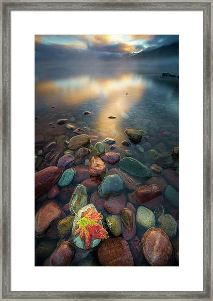 Fall Colors // Lake Mcdonald, Glacier National Park  Framed Print