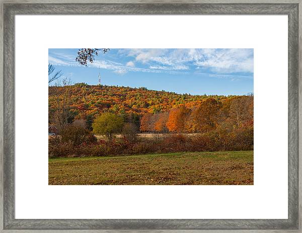 Fall Colors On Great Blue Hill Framed Print