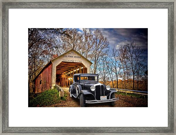 Fall Country Drive Framed Print