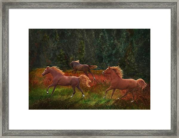 Fall Dancers Framed Print