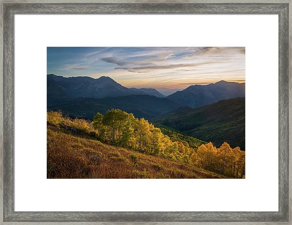 Fall Evening In American Fork Canyon Framed Print