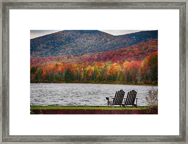 Fall Foliage At Noyes Pond Framed Print