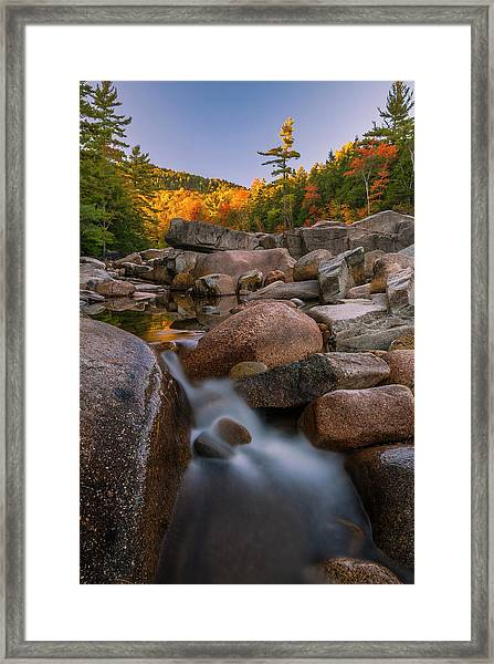 Fall Foliage In New Hampshire Swift River Framed Print