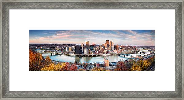 Fall In Pittsburgh  Framed Print