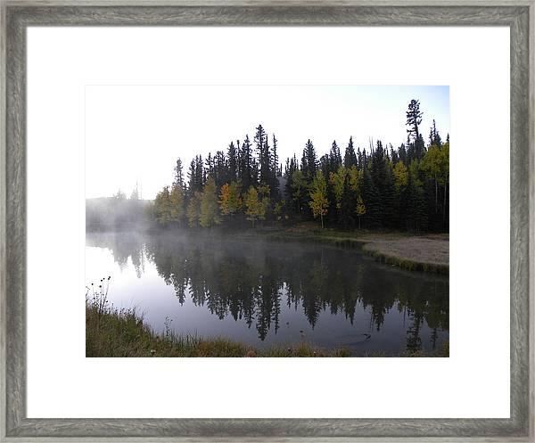 Kiddie Pond Fall Colors Divide Co Framed Print