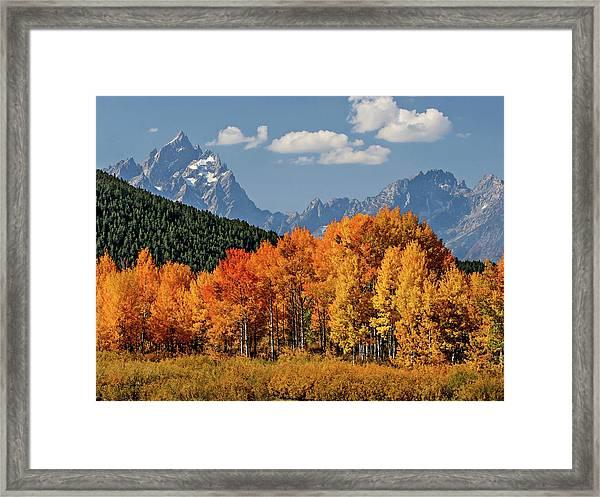Fall In The Tetons Framed Print