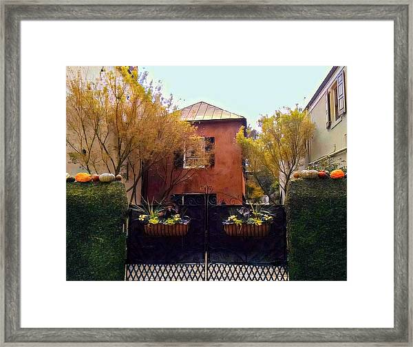 Fall Into Charleston Framed Print