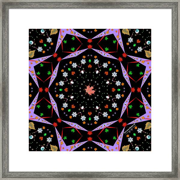 Framed Print featuring the digital art Fall Into Winter K8 by Brian Gryphon