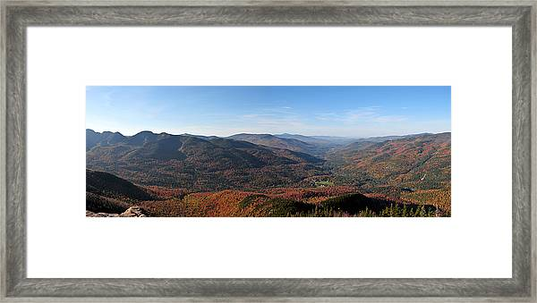 Fall Keene Valley Panorama Framed Print