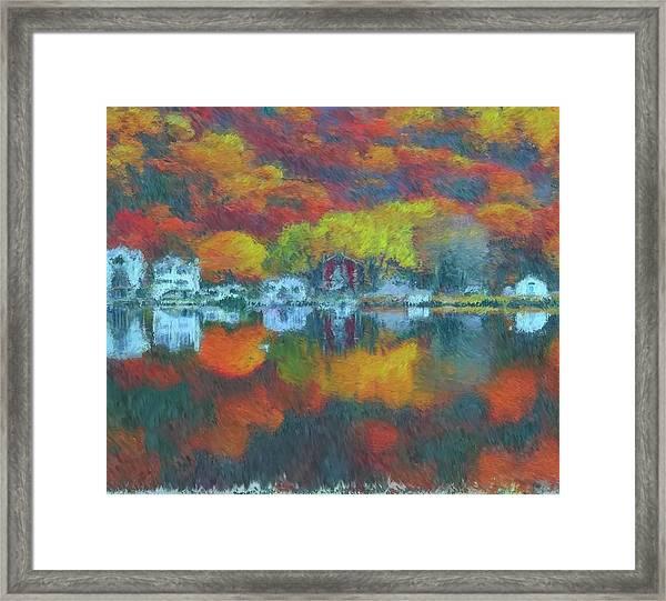 Fall Lake Framed Print