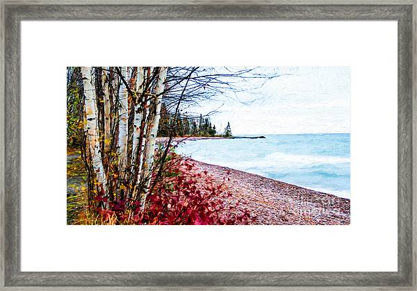 Fall On Lake Superior Framed Print