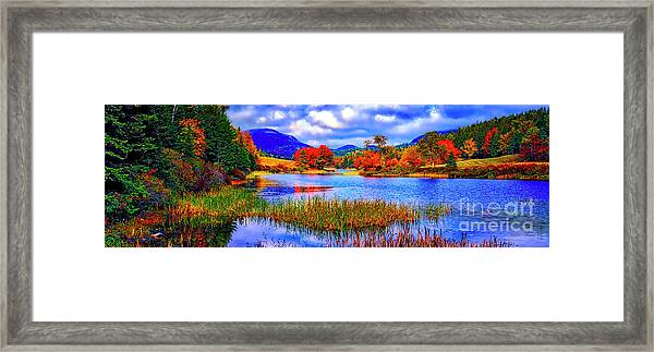 Fall On Long Pond Acadia National Park Maine  Framed Print
