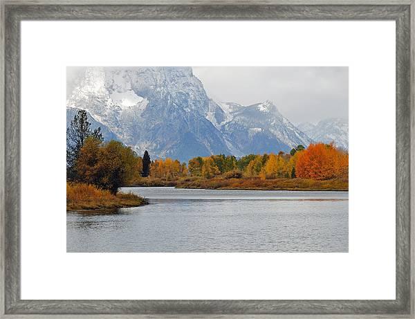 Fall On The Snake River In The Grand Tetons Framed Print