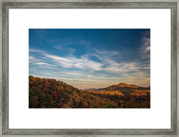 Fall Skies Framed Print