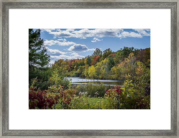 Fall Time On The Lake Framed Print