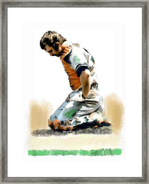 Fallen Captain Thurman Munson Framed Print