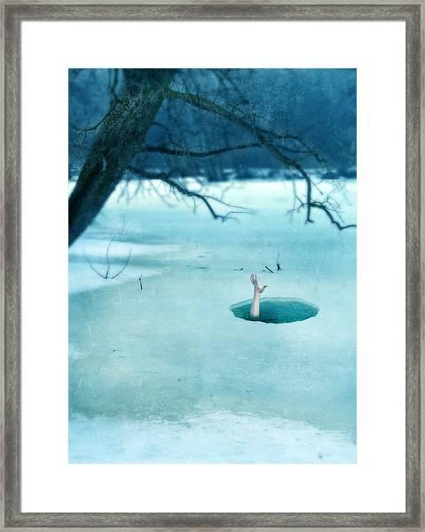 Fallen Through The Ice Framed Print