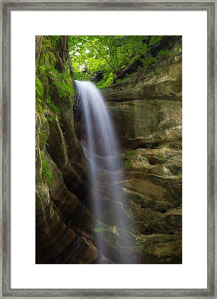 Falling Away Framed Print