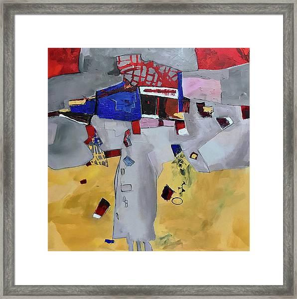Falling City Framed Print