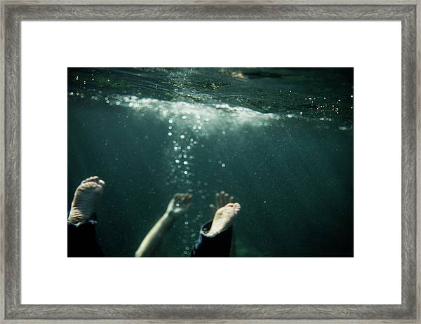 Falling In The Darkness Framed Print
