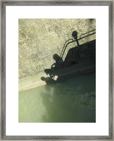 Falling Into The Water Framed Print
