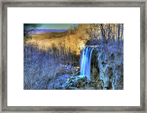 Falling Spring Falls Framed Print