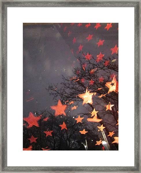 Falling Stars And I Wish.... Framed Print
