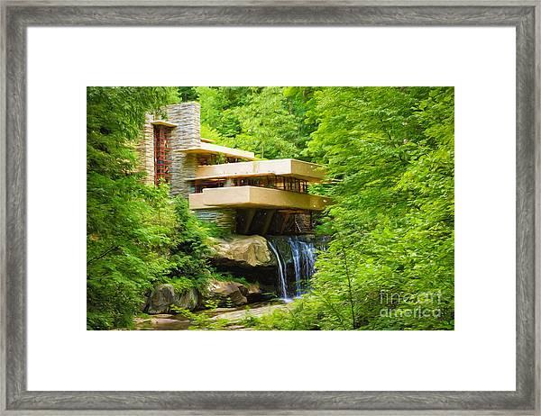 Fallingwater Painterly L Framed Print