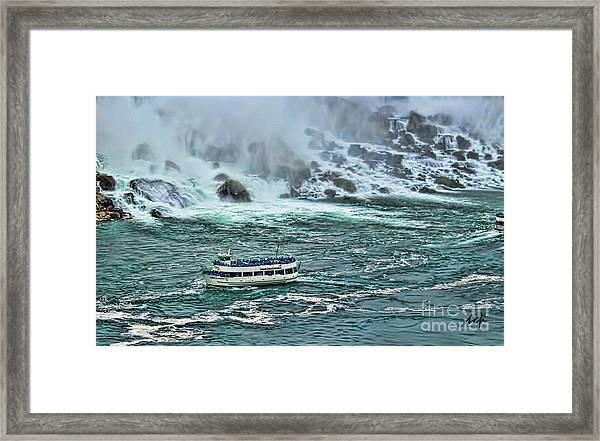 Falls Boat Framed Print