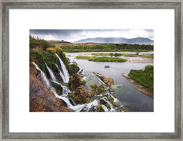 Falls Creak Falls And Snake River Framed Print