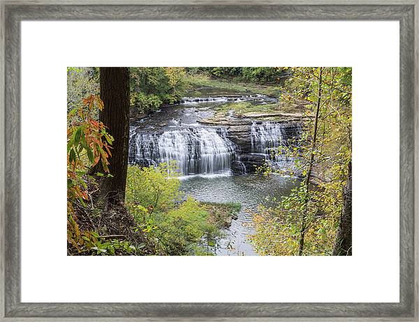 Falls Through The Trees Framed Print