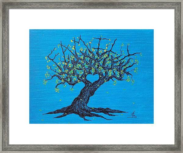 Framed Print featuring the drawing Family Love Tree by Aaron Bombalicki